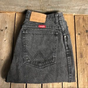 Sexy High Waisted Vintage Wrangler Black Jeans